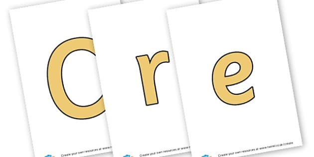 Creative area - display lettering - Creative Area Primary Resources, sign, area, zones, banner, poster
