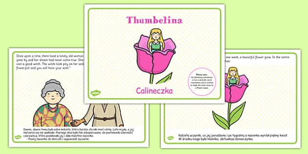 Thumbelina Story Polish Translation - polish, thumbelina, story, traditional, tale