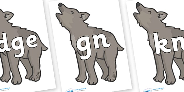 Silent Letters on Wolf Cubs - Silent Letters, silent letter, letter blend, consonant, consonants, digraph, trigraph, A-Z letters, literacy, alphabet, letters, alternative sounds