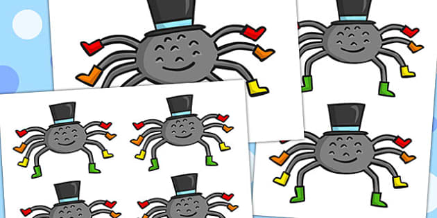 Incy Wincy Spider Cutouts - australia, Incy Wincy Spider