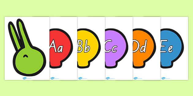 Alphabet on Multicoloured Caterpillar