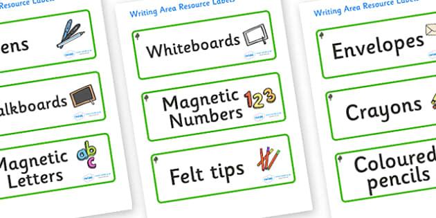 Chestnut Tree Themed Editable Writing Area Resource Labels - Themed writing resource labels, literacy area labels, writing area resources, Label template, Resource Label, Name Labels, Editable Labels, Drawer Labels, KS1 Labels, Foundation Labels, Fou