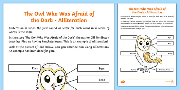 Alliteration Activity Sheet, worksheet