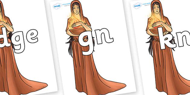 Silent Letters on Hestia - Silent Letters, silent letter, letter blend, consonant, consonants, digraph, trigraph, A-Z letters, literacy, alphabet, letters, alternative sounds