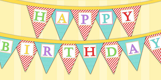 Circus Themed Birthday Party Happy Birthday Bunting - parties