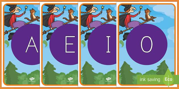 ¡Cómo mola tu escoba! tarjetas de fonemas