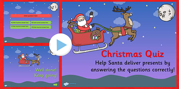 Editable Christmas Quiz PowerPoint - christmas, christmas quiz, powerpoint, christmas powerpoint, quiz powerpoint, christmas games, christmas activities