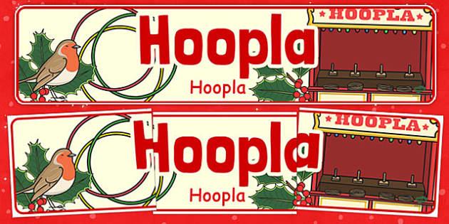 Christmas Themed Hoopla Banner Polish Translation - polish, christmas, themed, hoopla, banner, display