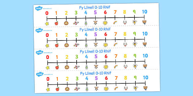 Fy Linell Rif 0-10 - welsh, number, line, 0-10, numbers