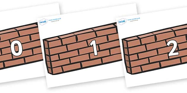 Numbers 0-50 on Wall - 0-50, foundation stage numeracy, Number recognition, Number flashcards, counting, number frieze, Display numbers, number posters