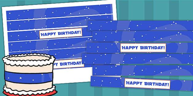 Space Themed Birthday Party Cake Ribbon - parties, birthdays