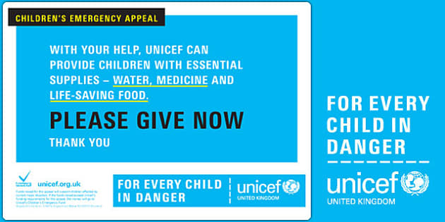 Unicef Emergency Collection Bucket Label - unicef, collection