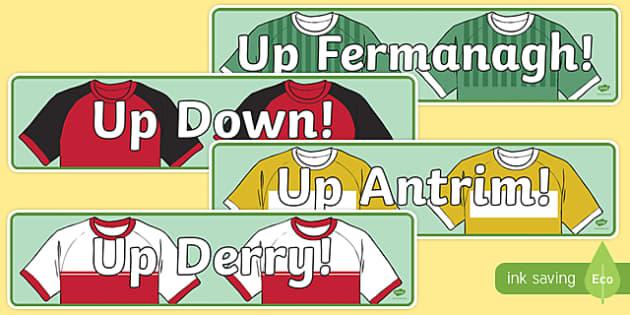 Ulster Counties GAA Display Banner-Irish