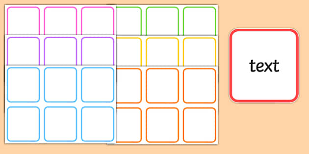 Editable Colourful Boxes - change, make, boxes, cubes, colour, bright, ks1, infants, display, fun, ks2,