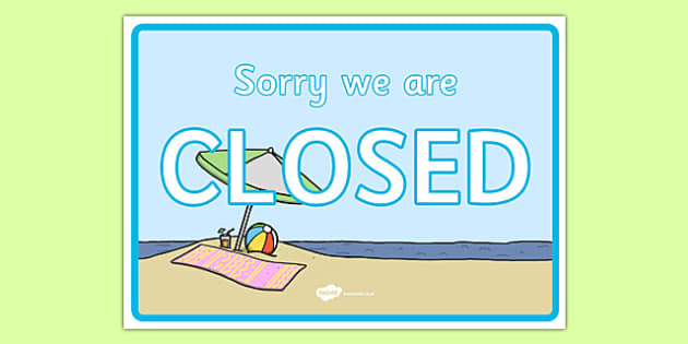 Travel Agents Closed Sign - Travel agent, holiday, travel, role play, open, closed, Opening Times, open, holidays, agent, booking, plane, flight, hotel