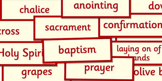 Confirmation Word Cards - confirmation, word cards, word, cards