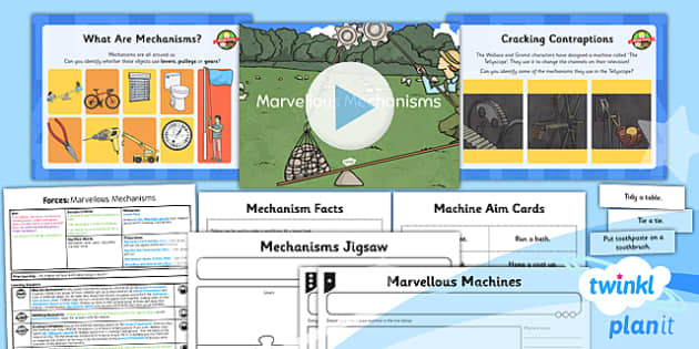 PlanIt - Science Year 5 - Forces Lesson 6: Marvellous Mechanisms Lesson Pack - planit