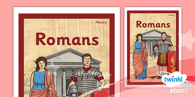 PlanIt - History LKS2 - Romans Unit Book Cover - planit, history, book cover, romans