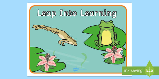 Leap Into Learning Motivational Poster - leap into learning, motivational poster, learning poster, learning poster, display poster, classroom poster