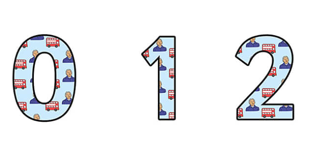 Rosa Parks Themed A4 Display Numbers - rosa parks, display numbers, themed number, classroom number, numbers for display, a4 numbers, number, class display