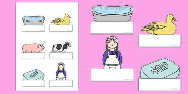Washerwoman Editable Self Registration - mrs wishy washy, washerwoman, self-registration