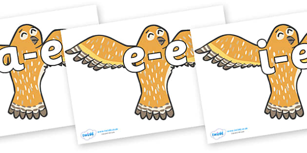 Modifying E Letters on Owls - Modifying E, letters, modify, Phase 5, Phase five, alternative spellings for phonemes, DfES letters and Sounds