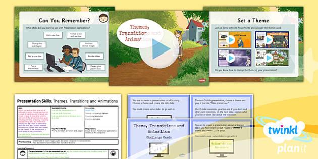 PlanIt - Computing Year 3 - Presentation Skills Lesson 3: Themes Transit - planit, computing, year 3, presentation skills, unit, lesson 3