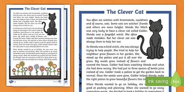The Clever Cat Differentiated Halloween Spooky Story