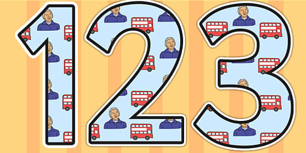 Rosa Parks Themed Display Numbers - rosa parks,  display numbers, themed number, classroom number, numbers for display, numbers, number, classroom display