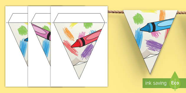 Colorful Crayons Display Bunting - classroom, display, class, color, colour, pencil, rainbow, coloring, colouring