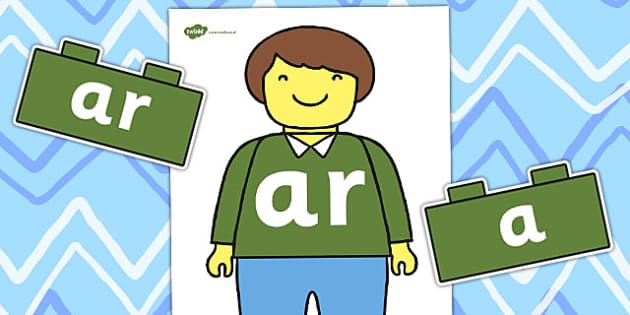 Toy Man 'ar' Sound Family Cut Outs