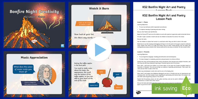 Bonfire Night Creativity Lesson Teaching Pack-Australia