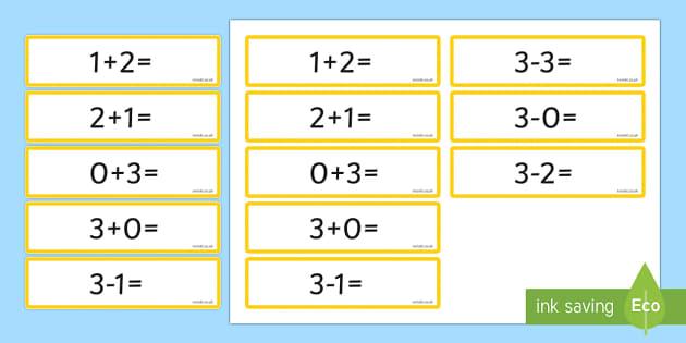 Number Bonds to 3 Sentence Cards - number, bonds, sentence