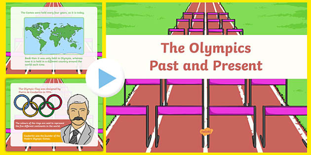 The Olympics Past and Present PowerPoint - olympics, rio olympics, past, present, powerpoint