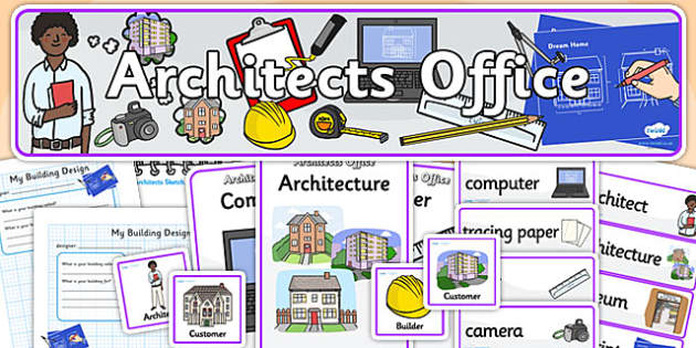 Architects Office Role Play Pack - architects, role play, role play pack, architects role play, resource pack, pack of resources, architects pack, resource