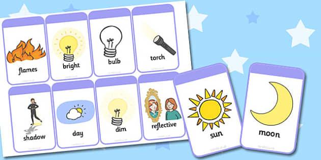 Light and Dark Flashcards - light, dark, flashcards, flash, cards