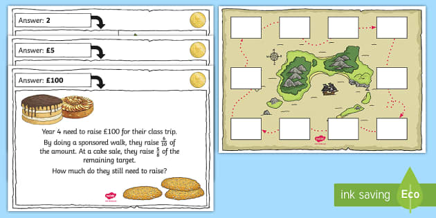Fractions of Money Differentiated Activity Sheets - Fractions, fractions of amounts, fractions of numbers, problem soling, word problems, Solve simple m