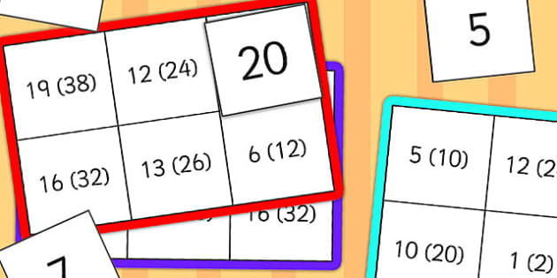 Halves Lotto - halves, lotto, game, activity, class, count, maths