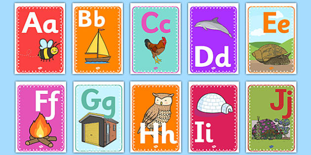 Alphabet Display A4 Posters French - french, alphabet, display, a4, posters, display posters, letters
