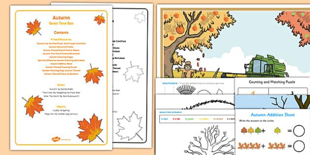 Autumn Quiet Time Box