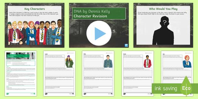 DNA   Character Revision Lesson Pack - DNA, Dennis Kelly, Leah, Phil, Mark, Jan, Danny, Lou, John Tate, Cathy, Brian, Richard, Adam, Boy. c