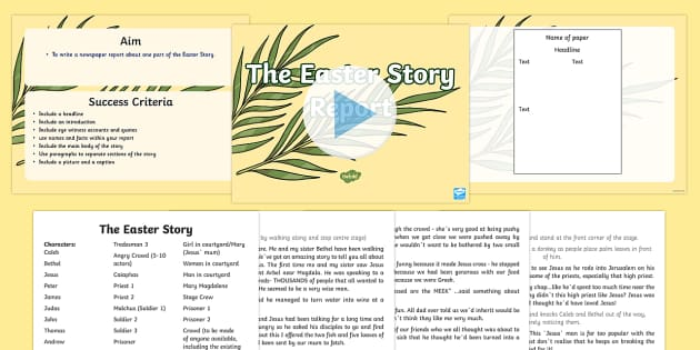 Easter Story Play Script PowerPoint - easter, easter story, play