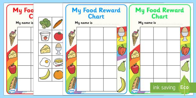 My Food Reward Chart - food, award, reward, reward chart, praise