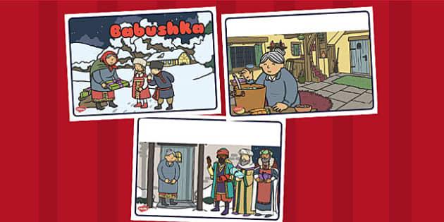 Babushka Story Sequencing - babushka, story, sequence, christmas