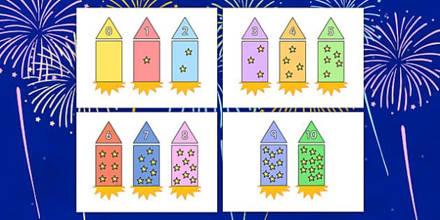 Numeral Matching Rocket Activity - numeral, matching, rocket, activity, match
