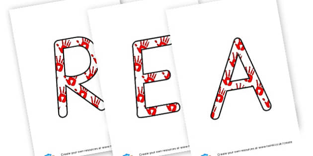 REACH FOR THE STARS - display lettering - Display Lettering Primary Resources, cut out, letters, display