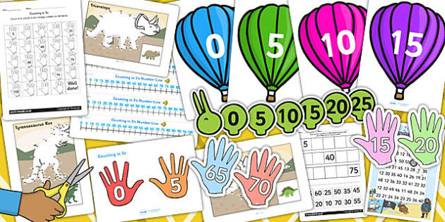 Counting in 5s Resource Pack - counting, resources, pack, 5s