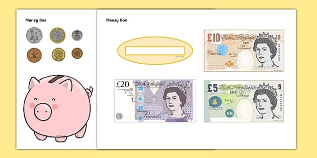 Money Box Themed Mug Box Decals Pack - mug box, decals, themed, pack, money box