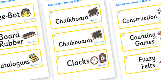 Diamond Themed Editable Additional Classroom Resource Labels - Themed Label template, Resource Label, Name Labels, Editable Labels, Drawer Labels, KS1 Labels, Foundation Labels, Foundation Stage Labels, Teaching Labels, Resource Labels, Tray Labels,