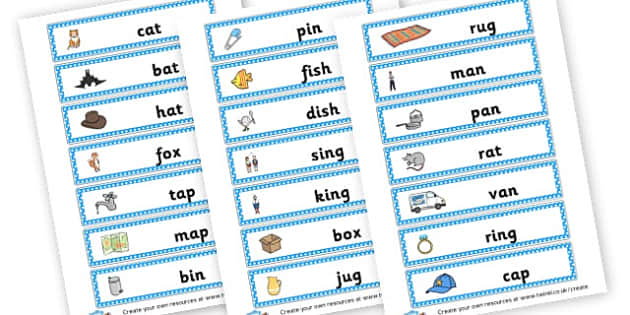 CVC Word Cards - CVC Words Literacy Primary Resources -  Primary Resources, CVC, c